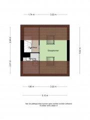 Plattegrond Langestraat 487 HILVERSUM