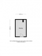 Plattegrond Pieter de Hoochstraat 58 ALMELO