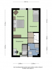 Plattegrond Jan Vermeerstraat 87 EDE